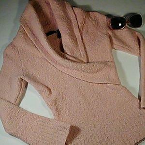 Moda International PLUSH blush pink sweater